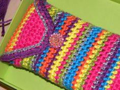 10 Beste Afbeeldingen Van Telefoonhoesjes Haken Crochet Bags