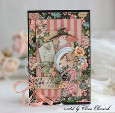 A Ladies' Diary card by Elena #graphic45