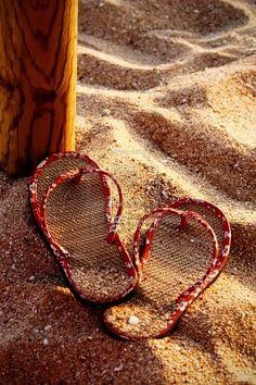 Sand in my flip flops ...