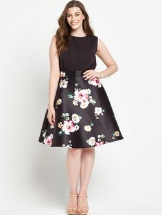 MIDI SKATER DRESS, http://www.littlewoodsireland.ie/ax-paris-curve-midi-skater-dress/1600099676.prd