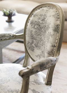 toile: love it paired with solids, checks or ticking in subtle ways or in entire rooms
