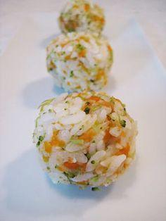 TODDLER FOOD! Japanese Rice Balls Recipe ! The kids will eat veggies!