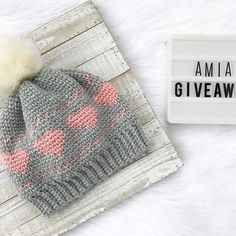 Who's ready for a GIVEAWAY?! Over 1K of you lovely people have decided you want to follow and share in this incredible maker journey with me 💕 I am now over 100 sales on Etsy, AND you all seem to be loving my recent crochet design obsession as much as I am! That is all super exciting for me, and, in my opinion, definitely deserves a celebration!! So here's the deal! The winner of this giveaway will get their choice of either The Amia Beanie Crochet Pattern (PDF includes sizing for adult and…
