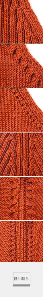 Knitting Tip - Accentuated Decreasing with ribs, cables, or eyelets. Highly decorative effect when seamed.
