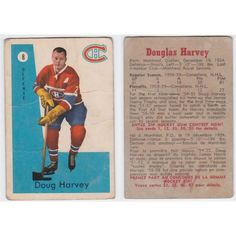 1959/60 Parkhurst Doug Harvey Card #8 Montreal Canadiens Listing in the Non-Graded,Pre-1960,Singles,NHL,Hockey,Sports Cards & Stickers,Sport Memorabilia & Cards Category on eBid Canada   150932994
