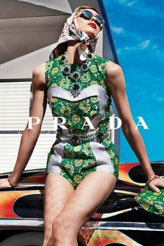 Prada- expensive, but fun and not stuffy. a little loud. Imagine if you could actually wear this.