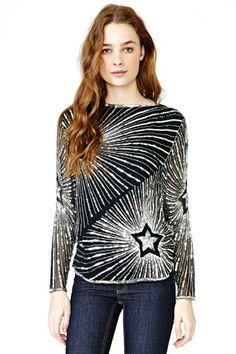 Night Star Sequin Blouse