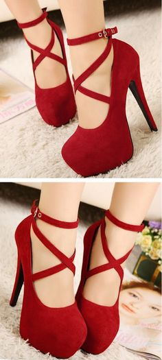 Red MaryJane Shoes //