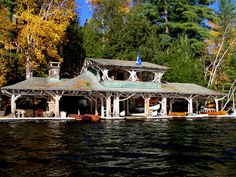 The boathouse in the Adirondacks. Love it.