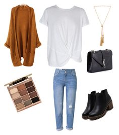 """Día de lluvia"" by camila-radino on Polyvore featuring moda, MINKPINK, WithChic, Yves Saint Laurent, Chloé y Stila"