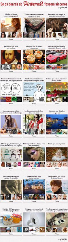 Verdade por trás do boards no Pinterest (o último é demais)