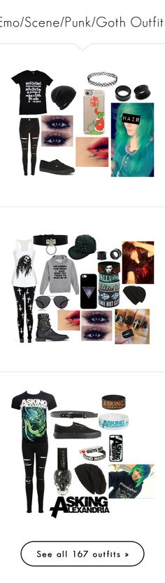 """""""Emo/Scene/Punk/Goth Outfits"""" by abipatterson on Polyvore featuring River Island, NOVICA, Coal, Vans, Casetify, The Row, Yves Saint Laurent, Phase 3, Miss Selfridge and YOHJI YAMAMOTO POUR HOMME"""