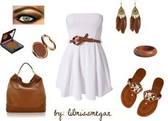 """White + Bronze Goddess"" by lilmissmegan on Polyvore"