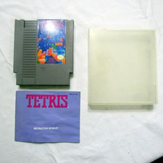 NES Tetris Nintendo Cartridge With Instructions and Plastic Case Tested Works
