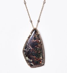 Jill Reno Jewelry Rare Phlogopite set in 1.6 Cts. Diamonds, .48 Ct. Diamond in 14K Gold Chain