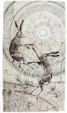 'Spring Spirit' - Jane Keay (Pen and Ink)