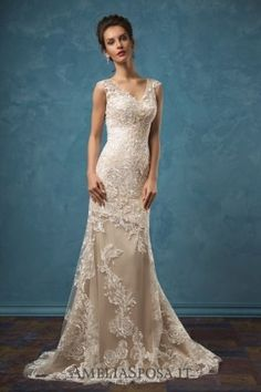 Amelia Sposa V-neck Satin Two-piece Wedding Dresses Olivia