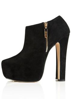 Suede black boots with gold accent zipper 1a9f49f87