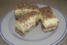 Desert prajitura parlament Cream Cake, Tiramisu, Biscuit, French Toast, Sweets, Breakfast, Ethnic Recipes, Food, Cakes