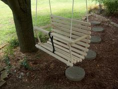 Rope tree swing for preschool kids by Quarrydesigns on Etsy