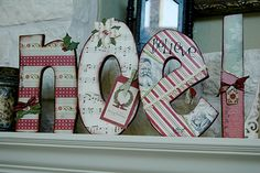 noel letters out of wood