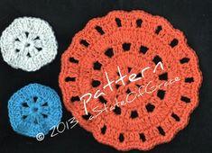 Facial Scrubbie and Washcloth Set 2 Crochet PATTERN | Etsy Pdf Patterns, Crochet Patterns, Knitting Patterns, Crochet Gifts, Crochet Doilies, Double Crochet, Single Crochet, Spa Outfit, Etsy Handmade