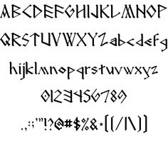The font I used for the Dragon Manuals!