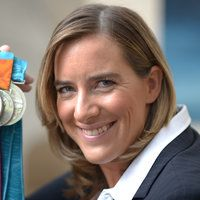 The first person I would invite to dinner. Dame Katherine Grainger