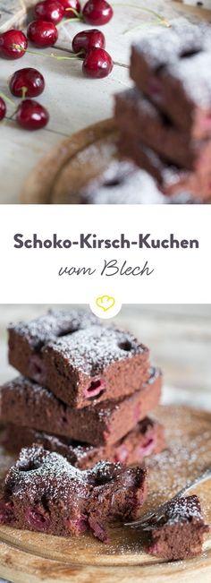 Schokolade und Kirschen – ein himmlisches Duett, eine fabelhafte Liebelei, eine traumhafte Kombination. Mit Mehl und Eiern verrührt – eine unwiderstehlich leckere Köstlichkeit aus dem Ofen. Und das in weniger als 30 Minuten.
