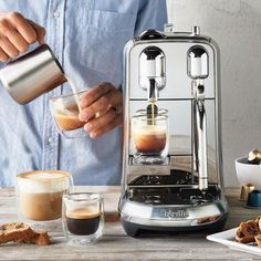 Nespresso Creatista Plus Espresso and Coffee Beverages Maker with Milk Frother by Breville, Silver Breville Espresso Machine, Espresso Machine Reviews, Espresso Maker, Coffee Maker Machine, Cappuccino Machine, Coffee Machines, Coffee Bar Home, Coffee Corner, Coffee Art