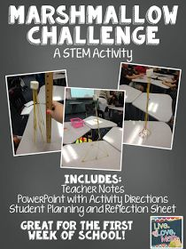 Live. Love. Math.: The Marshmallow Challenge - Day 2 Activity