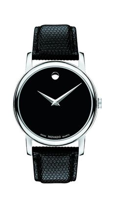 Movado Men's 2100002 Museum Black Stainless Steel Watch Vintage Watches For Men, Luxury Watches For Men, Black Stainless Steel, Stainless Steel Watch, Women's Museum, Mens Designer Watches, Swiss Army Watches, Elegant Watches, Cool Watches