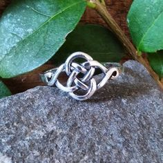 Celtic Knot Ring Irish Ring 925 Sterling Silver by Impulse18K