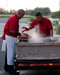 The ChowderMobile guys steaming an authentic Lobster Clambake at a local winery Rehearsal Dinners, Chowder, Wedding Reception, Catering, Bridal Shower, Guys, House, Food, Marriage Reception