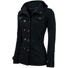 Long Sleeves Hooded Flat Collar Double Breasted Pockets Beam Waist Thickened Stylish Women's CoatJackets | RoseGal.com