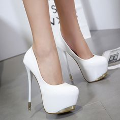 Round Toe Platform Low Cut Super High Stiletto Heels Prom Shoes on Luulla Cool High Heels, White High Heels, Super High Heels, High Heel Boots, High Heel Pumps, Pump Shoes, Shoes Heels, Stiletto Shoes, Ankle Boots