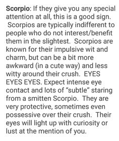 How To Tell A Scorpio Likes You