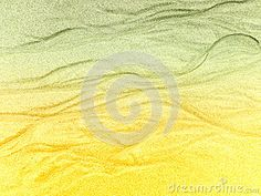 A close-up view of water lines in wet sea sand with a ocean themed colour gradient.