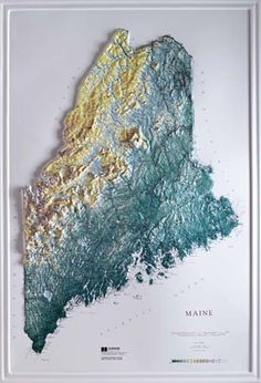 Maine Raised Relief Map From Onlyglobes Com