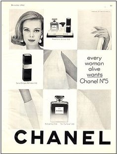 vintage fashion ad Chanel No. 5