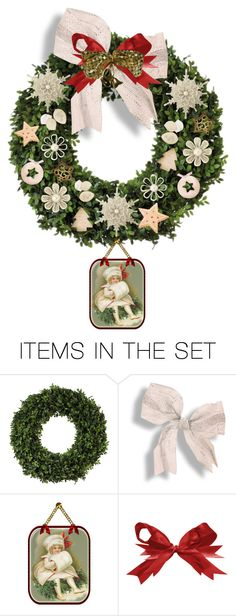 """""""vintage christmas wreath"""" by collagette ❤ liked on Polyvore featuring art, vintage and moods"""