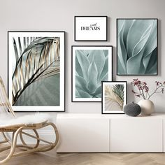 Salon Decoration Palm Leaves Wall Art Canvas Painting Aloe Botanical Posters And Prints Wall Pictures For Living Room Home Decor Living Room Canvas Pictures, Wall Art Pictures, Painting Pictures, Cactus Wall Art, Leaf Wall Art, Decoration, Art Decor, Decor Ideas, Rooms Home Decor
