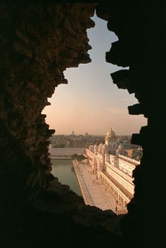 golden temple hole in tower, India, by gurumustuk singh
