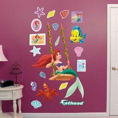 Fathead The Little Mermaid Ariel Swinging Decal - Wall Sticker Outlet