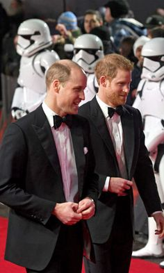 Prince William and Harry make a dashing duo at 'Star Wars' premiere - HELLO! Canada