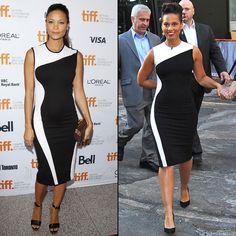THANDIE VS. ALICIA  Hace unos días la cantante Alicia Keys (der.) mostró sus curvas en el programa Good Morning America (ABC), que se transm...