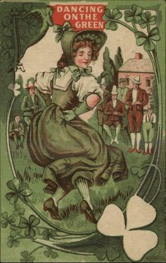 Happy Saint Patrick's Day Vintage Postcard