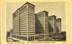 General Motors Building, New Center District, Detroit, Michigan.