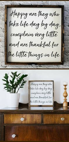 Happy Are They Wood Sign | Farmhouse Signs | Home Decor | Rustic Signs | Farmhouse Decor | Modern Decor | Gift Under 40 | Gallery Wall Decor | Rustic decor | Living room sign, Gift idea #ad