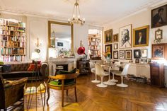 An apartment in the Marais district of Paris with decor...